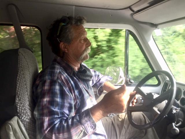 Tom Bergh drives us around Peaks Island