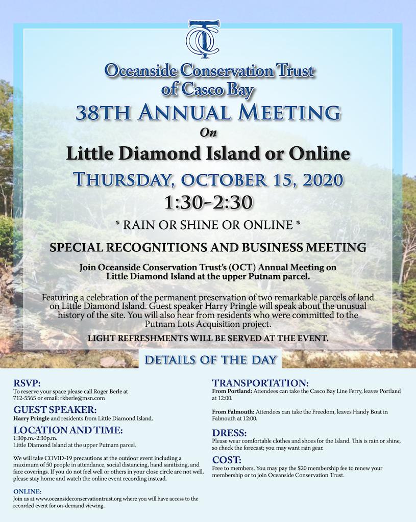 OCT Annual Meeting 2020 Invitation